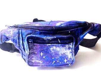 Fanny Pack Women - Festival Fanny Pack - Rave Waist Bag - Galaxy Leather Fanny - Womens Hip Bag - Leather Fanny Pack - Rave Accessories PF00