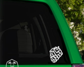 Hop Cone Car Window Decal