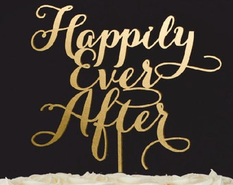 Wedding Cake Topper- Happily Ever After