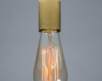 Brass Nickel Ceiling light Industrial Ceramic ceiling light, Antique Edison Bulb, Lamp, Rustic Lighting