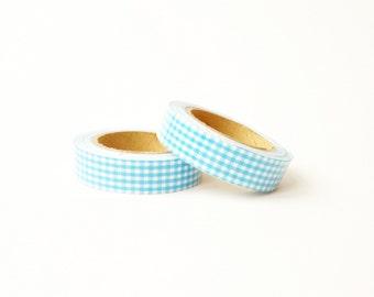 "Fabric Tape ""Blue Squares"""