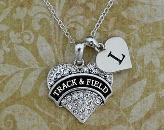 Custom Initial Track and Field Necklace