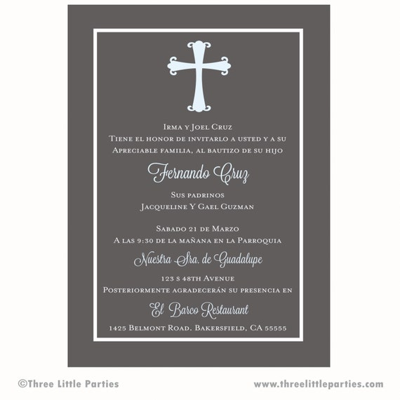 Baptism Invitation Printable Invitacion De Bautizo