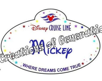 Disney Cruise Door Decoration Magnet ~ Name Tag ~ Choose Your Number