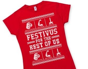 Womens Ugly Festivus Sweater T Shirt