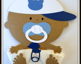 African American Baseball Baby Boy Shower Napkins Baby Shower Decor