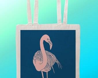 Flamingo  - Reuseable Shopping Cotton Canvas Tote Bag