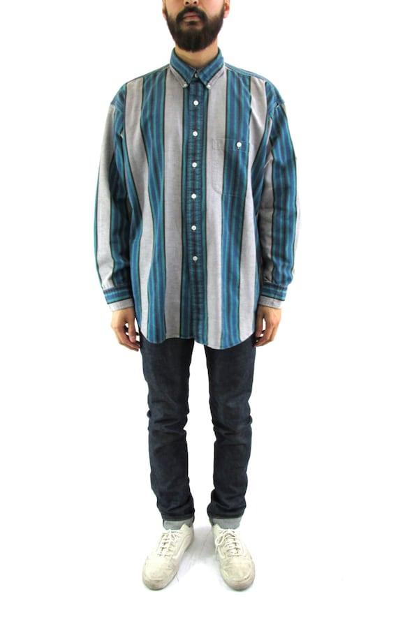 Chaps ralph lauren striped long sleeve button down shirt xl for Chaps button down shirts