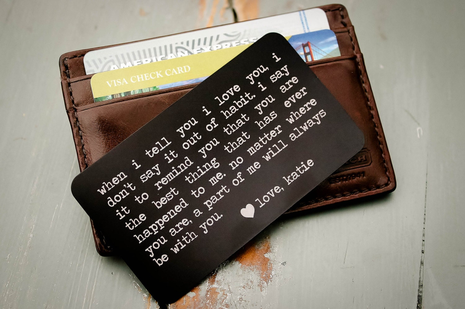 Wedding Gift For Child Of Groom : Personalized Wallet Insert Engraved Wallet Card: Father of