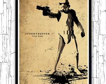 Star Wars Stormtrooper Minimalist Movie Poster