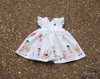 Girl's birthday dress, first birthday dress, first birthday photo outfit, birthday outfit, celebration dress, special occassion dress