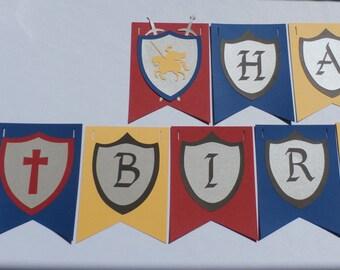 Royal Knight Birthday Banner