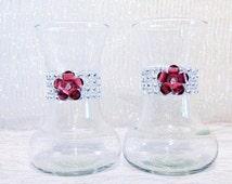Rhinestone Vases Set of 2 Pink Vases Baby Shower Centerpiece Crystal Vase Bling Birthday Party Vase Flower Baby Girl Shower Decorations