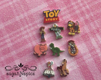 Toy Story Floating Charms  - Toy Story Floating Charms - Toy Story Memory Charms - Toy Story Memory Locket - Woody and Buzz Charms