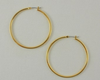 Large Gold Hoop Earrings - Jewelry Findings – Simple & Classic Design – Pkg of 2 Pairs