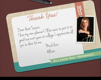 Thank You Grad Photo Graduation Thank You Notes High School College Customized Set of 25 Printed Photo Cards 2016 Graduation Gift