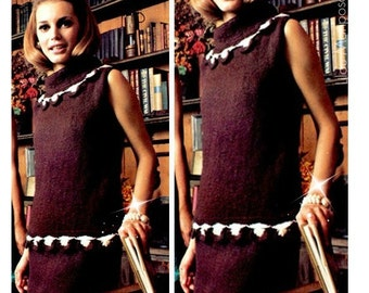 DRESS Pattern Vintage 60s Mod cloth Dress Pattern Knitting Pattern Knitting Dress Pattern Knitted Dress Pattern