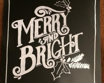 Holiday Chalkboard Sign