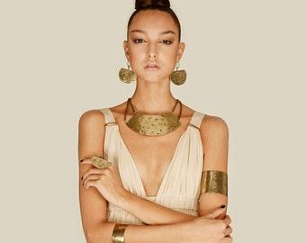 Bib necklace, african tribal necklace, african jewelry, Brass necklace, Tribal necklace, bib necklace, statement jewelry,  tribal bib