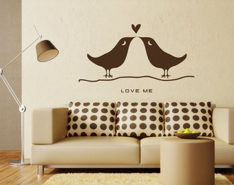 Living Room Wall Decal: Love Birds