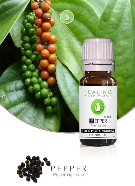 Black pepper oil- Essential oil Pepper- Pure therapeutic essential oil- Piper Nigrum-Healing oil- Ayurveda- chakra oil- Aromatherpy- Massage