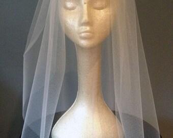 1 Tier Blusher veil