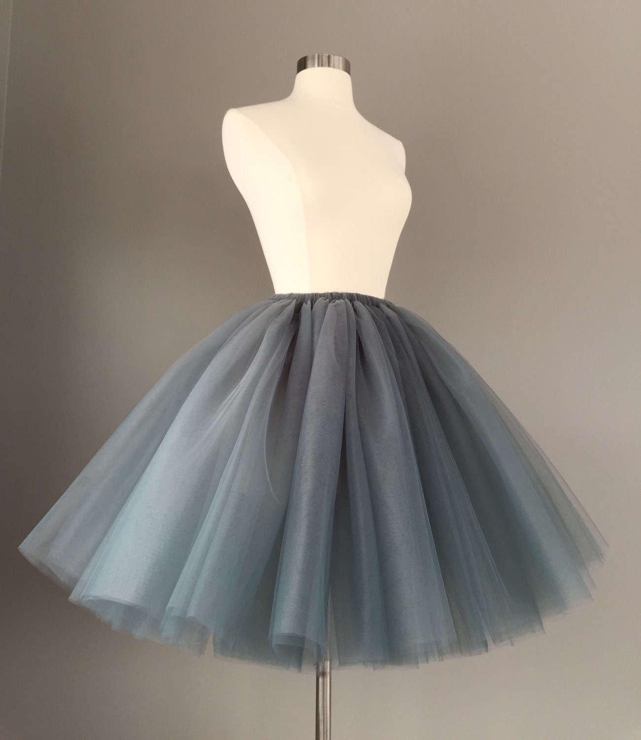 Charcoal Tulle Skirt Adult Bachelorette Tutu gray adult