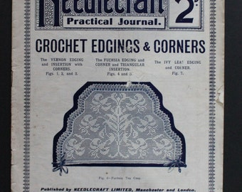Antique Magazine Needlecraft Practical Journal No. 93 18th Crochet Series 1900s Collectable Crafts Supplies Decoupage Collage Papercrafting