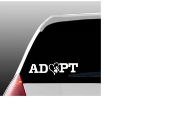 Adopt Car Window Decal for Pet Lovers