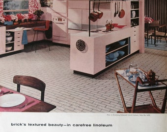 1950s home decor 1957 armstrong floors ad pebblestone floor pattern brings 1950s kitchen appliances   home design ideas and pictures  rh   mikkili com