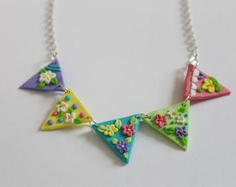 Springtime Bunting Necklace