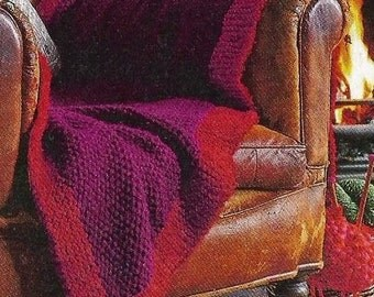 Instant Download - PDF- Fab Chunky Throw Knitting Pattern (H9)