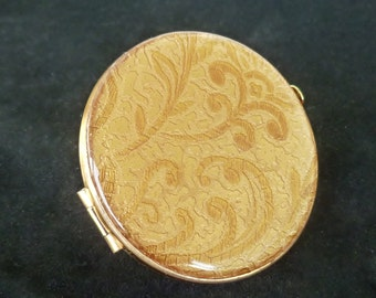 Vintage Mirror Lipstick Holder/ Lipstick Mirror Compact/ Goldtone / Mid Century/ High Fashion/  Gifts for Her/ Accessories