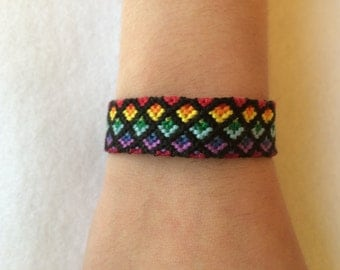 Rainbow Ombre Friendship Bracelet