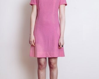 70's Pink Sheath Dress