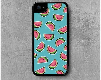 iPhone 5 / 5S / SE Case with Flip Blue Watermelons