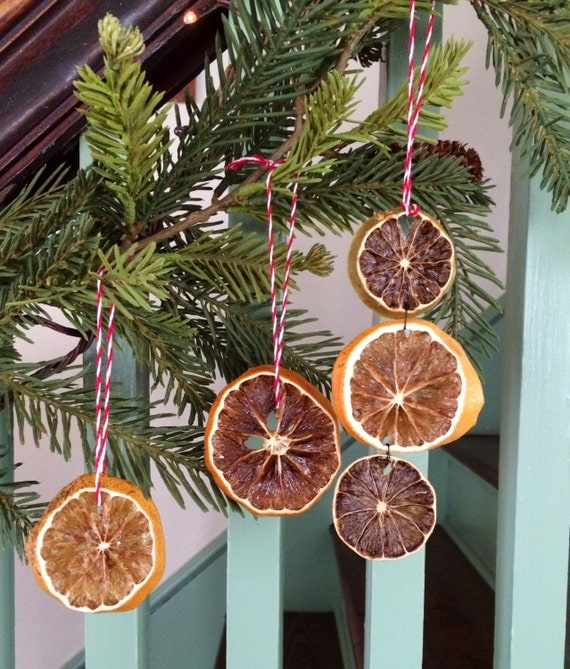 Items similar to 3 dried fruit ornaments on Etsy