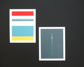 Handmade 4 Color Screenprint of a Grey Floater, limited edition