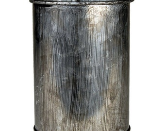 """Zinc Metal Cylinder Vases with Industrial Look Finished, H-4"""" Pots, Planters - Pack of 6 pcs (ZICY030304)"""