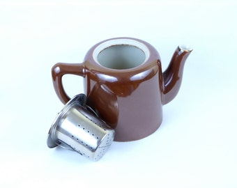 REVOL Glazed Stoneware Teapot  - Numbered - Terre d'acier - Saint Uze - 60s