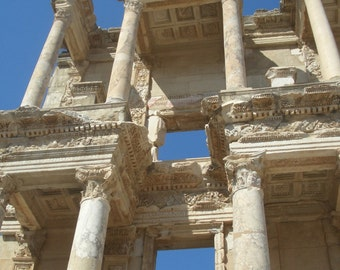 Turkey print, Ephesus, Travel photography, Fine art photography, Ruins, Mediterranean Wall Decor, Celsus Library