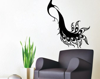 Peacock Wall Decals Bird Stickers Pets Birds Animals Vinyl Decal Sticker  Living Room Decor Home Art Part 89