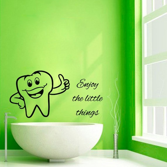 Tooth Wall Decals Enjoy The Little Things Wall Quotes Teeth