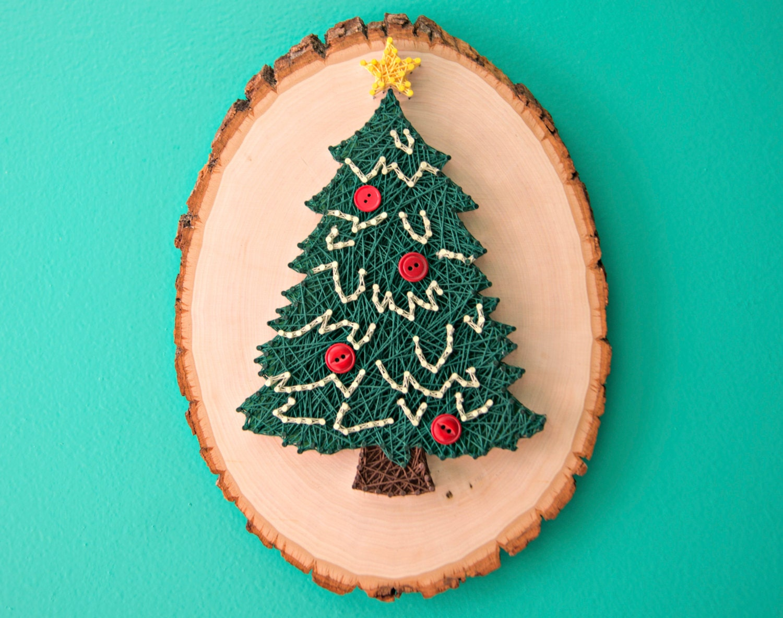 Hummel christmas tree ornaments - String Art Christmas Tree