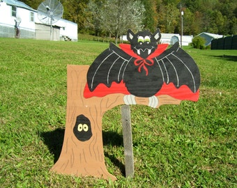 Bat On Tree,Halloween Decor,Outdoor Halloween Yard Art,Lawn Decor
