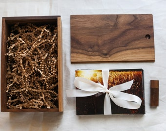 Beautifully Handcrafted, Rustic, Wooden Box Perfect for Packaging 4x6 Photos