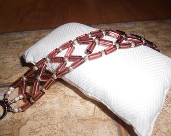 Glass Bugle Bead Bracelet