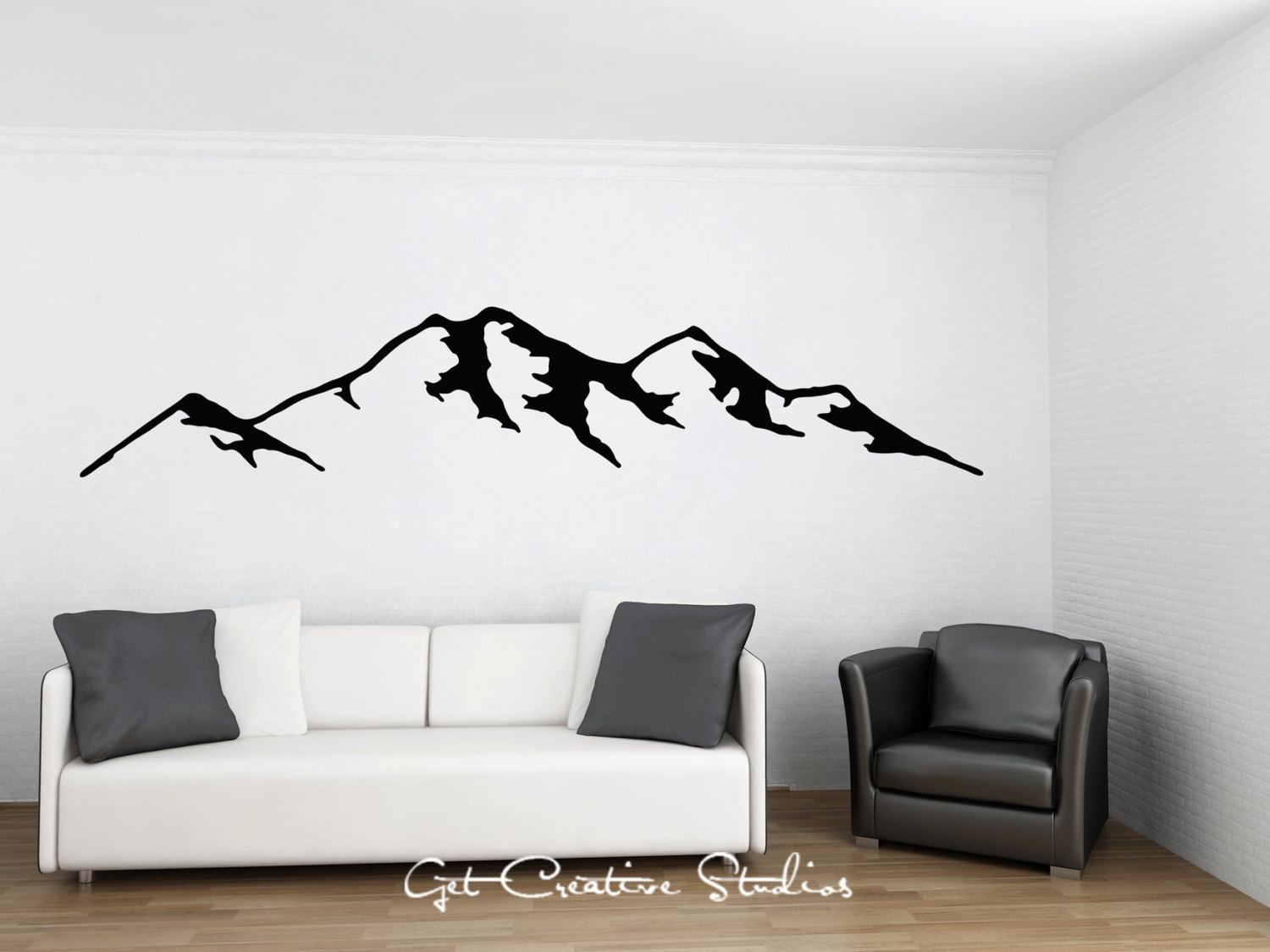 Mountain Decal Mountain Wall Decal Rocky Mountain Decal