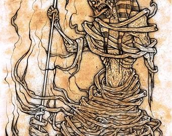 pharaoh mummy (original illustration)