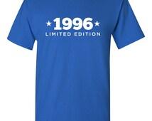 1996 Limited Edition Shirt 2015 Birthday 19th Birthday Turning 19 Born in 1996 Great Birthday Gift Milestone Mens Ladies Modern BD-447